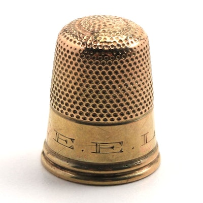 10K Yellow Gold Thimble