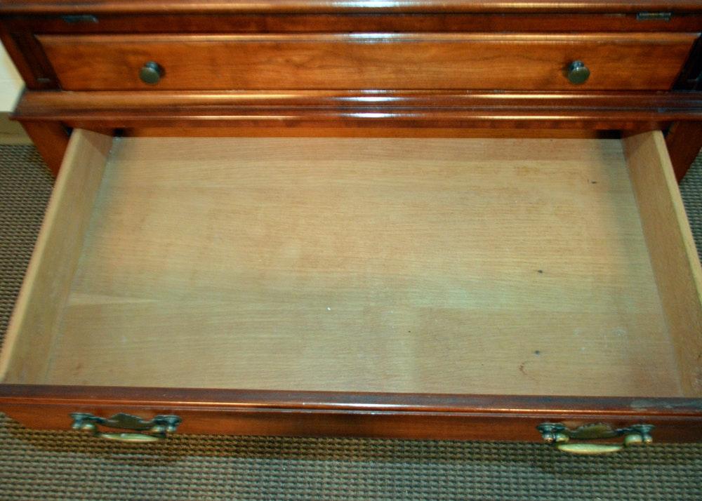 Vintage Solid Cherry Secretary Desk By Davis Cabinet