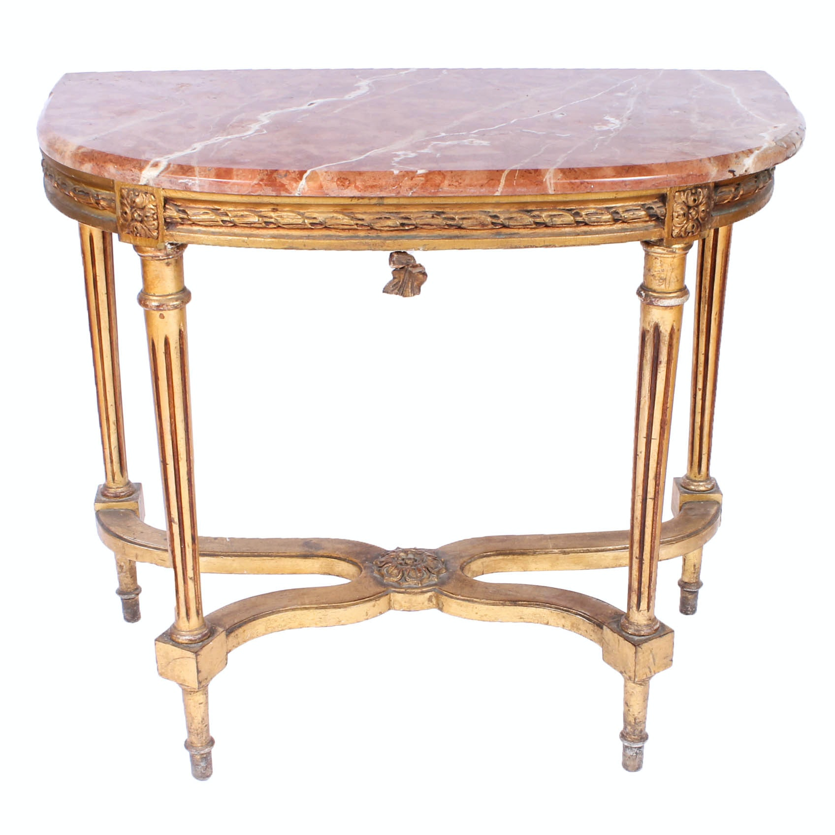 French Directoire-Style Marble Topped Table