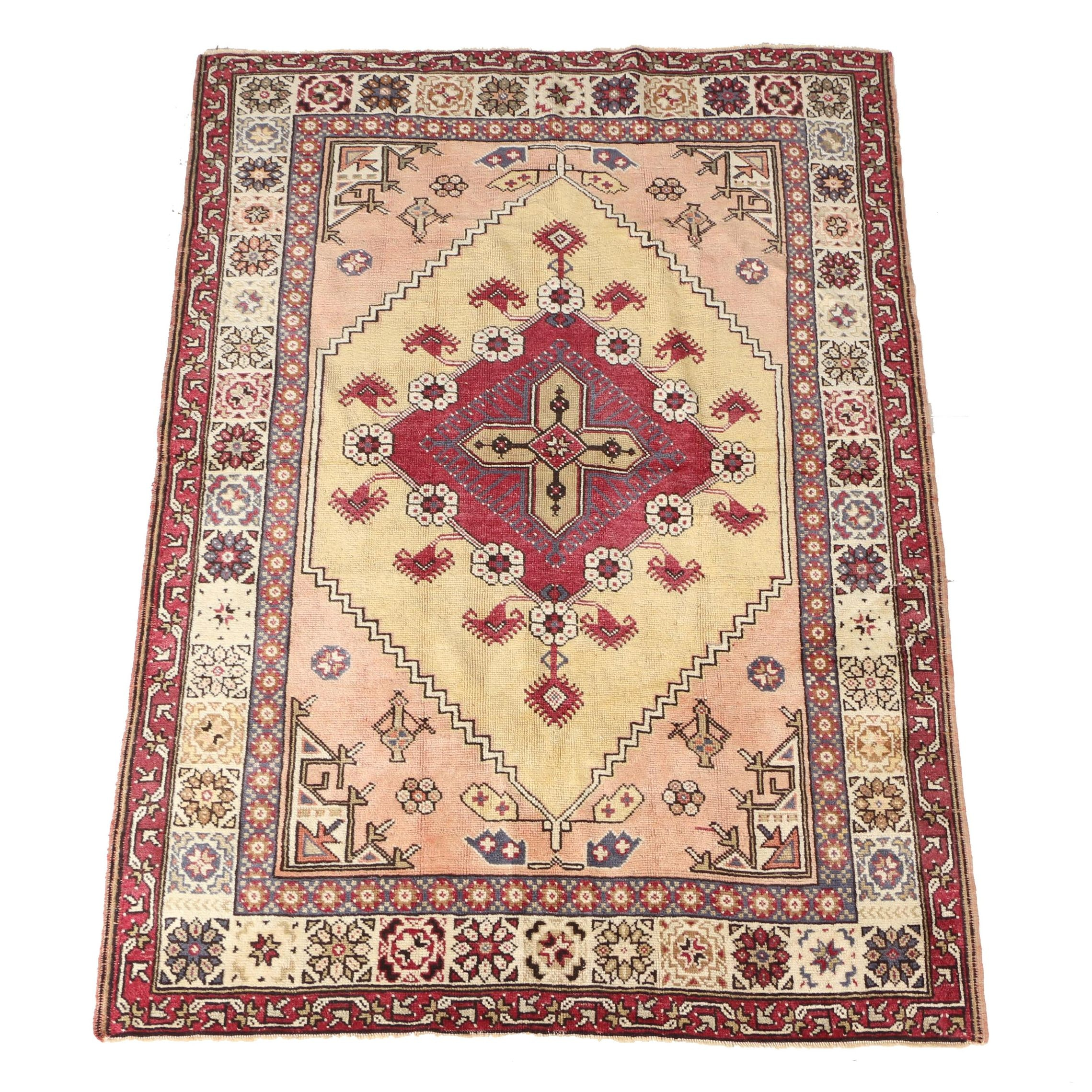 Hand Woven Turkish Wool Area Rug