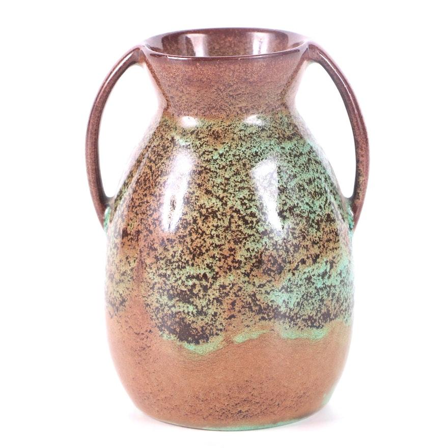 Vintage Nicodemus Art Pottery Cabinet Vase
