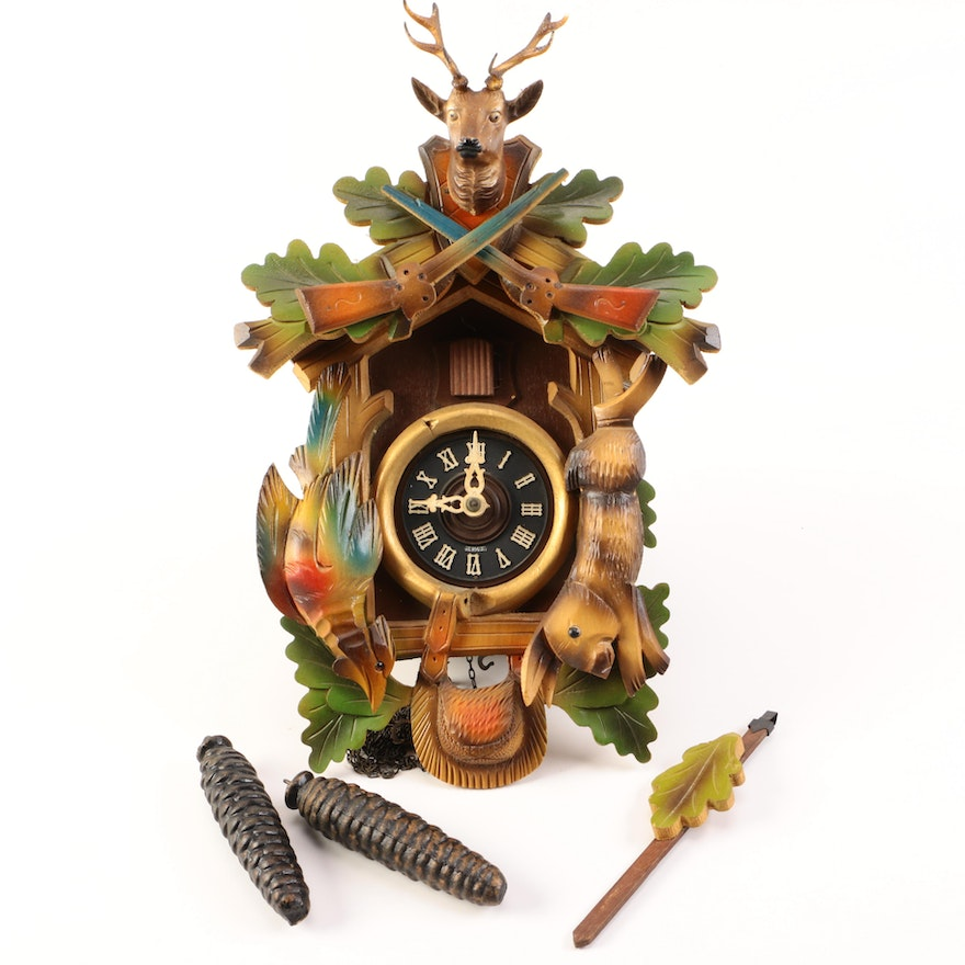 German Made Cuckoo Clock With E Schmeckenbecher Movement