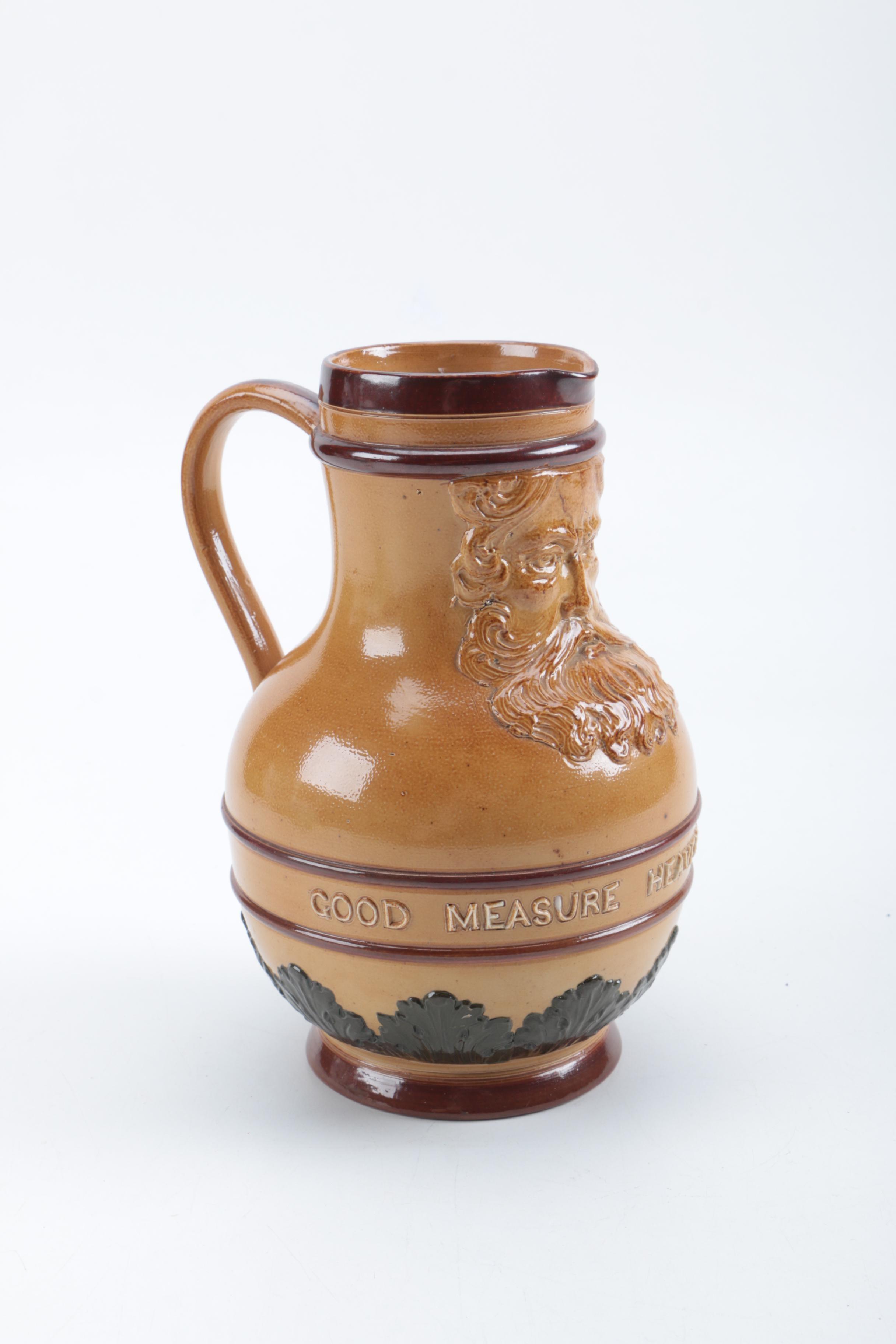 Vintage Ceramic Doulton Lambeth Jug