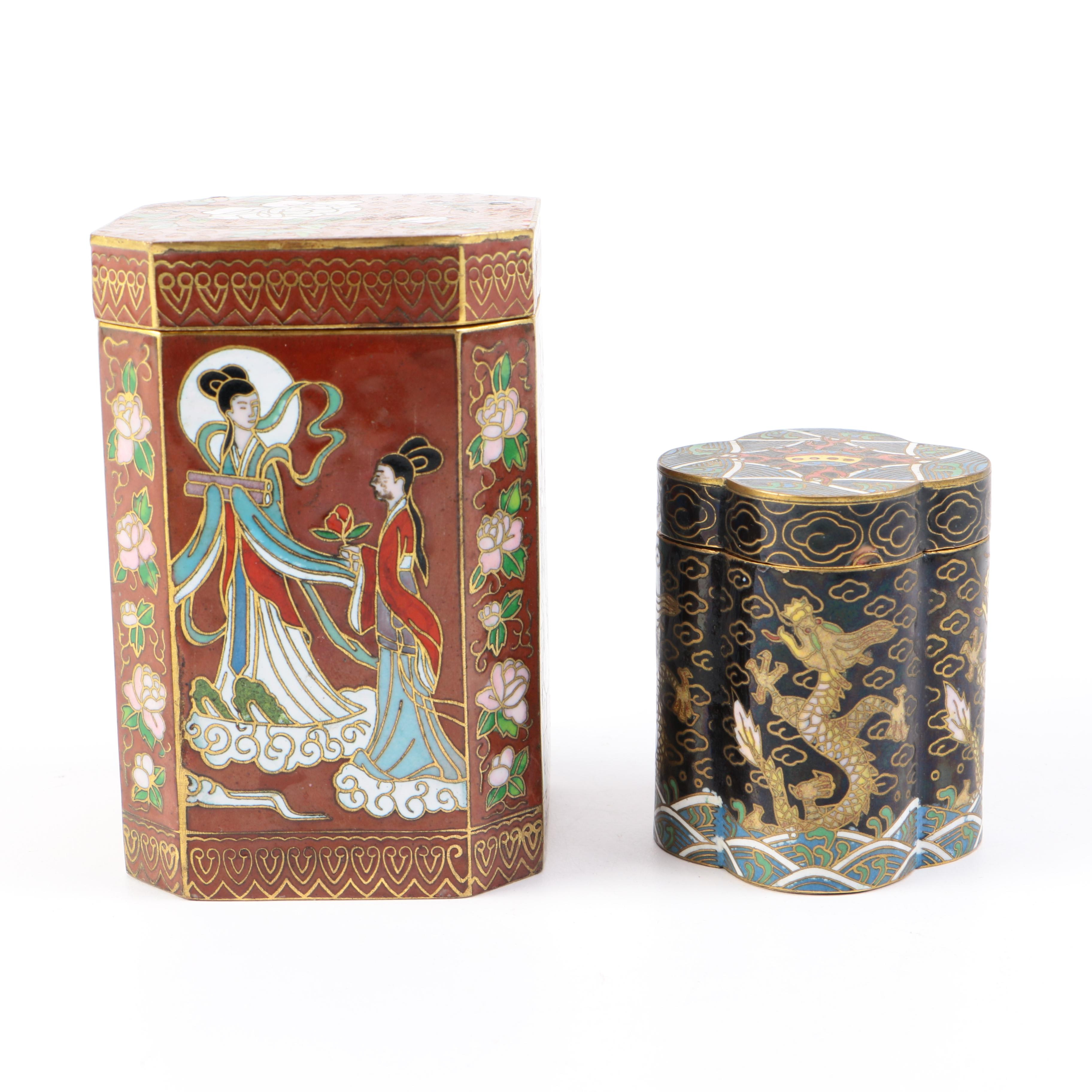 Chinese Cloisonne Matchsafes