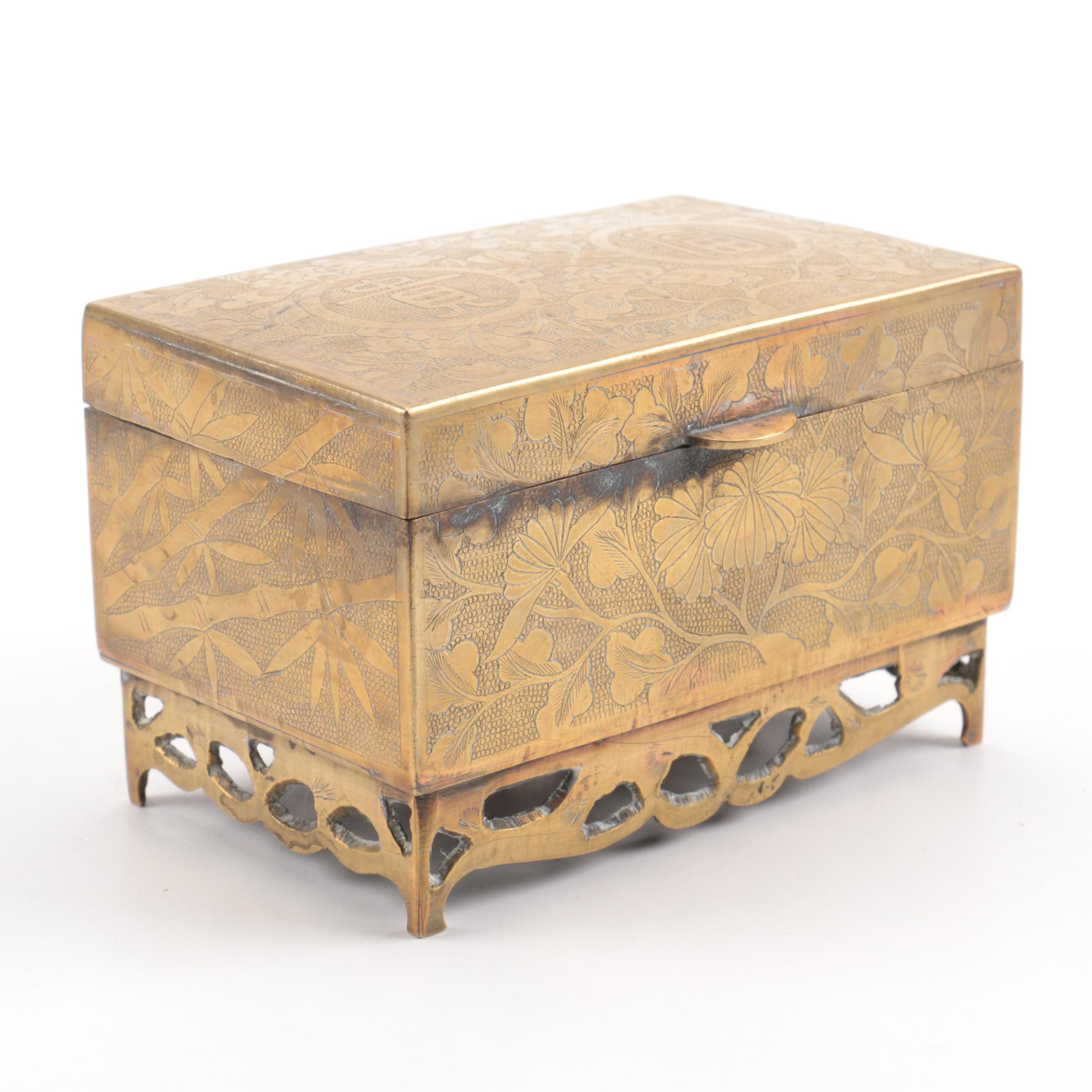 Chinese Brass Covered Box