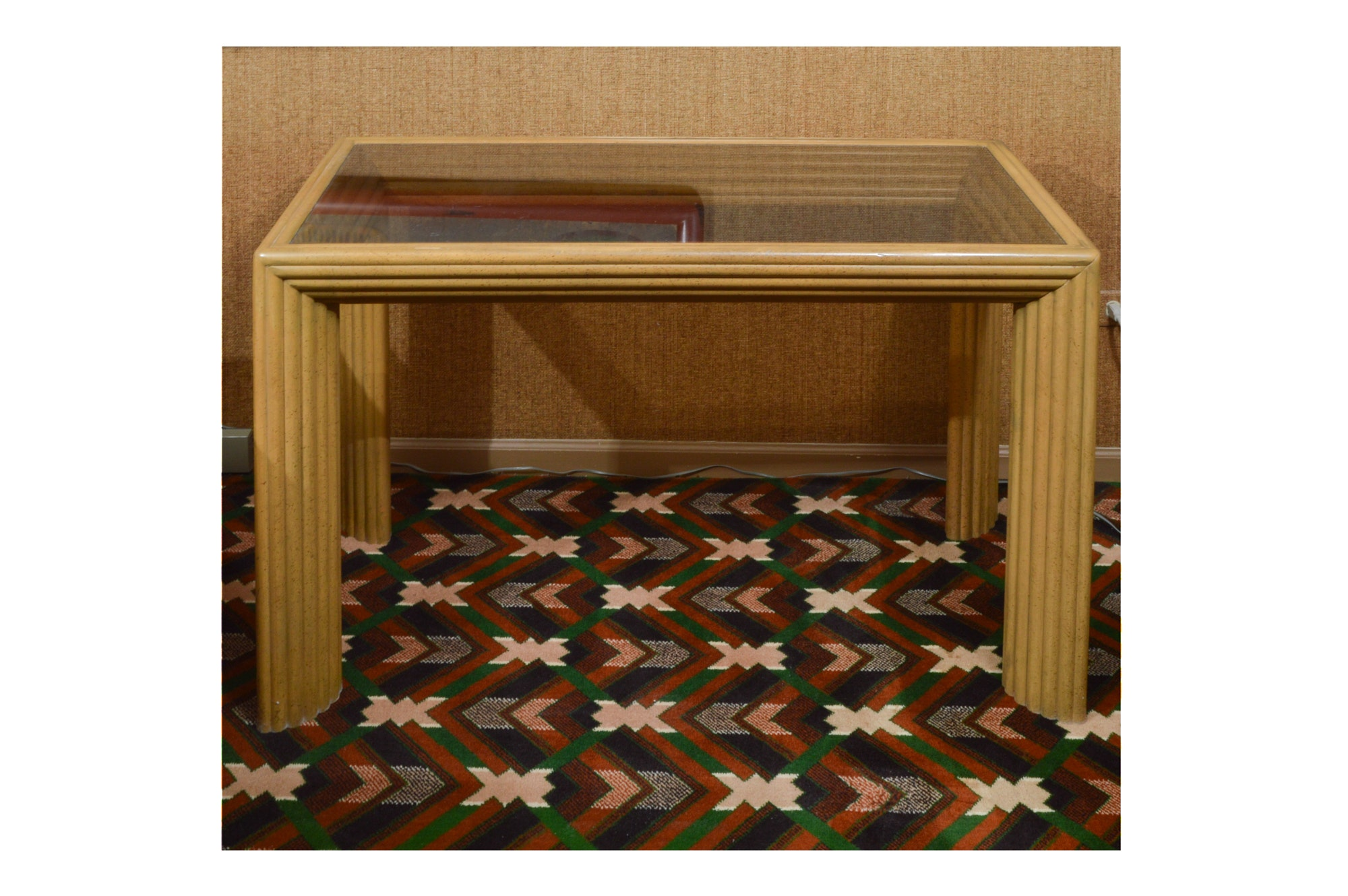 1980s Deco Style Faux Bamboo Accent Table