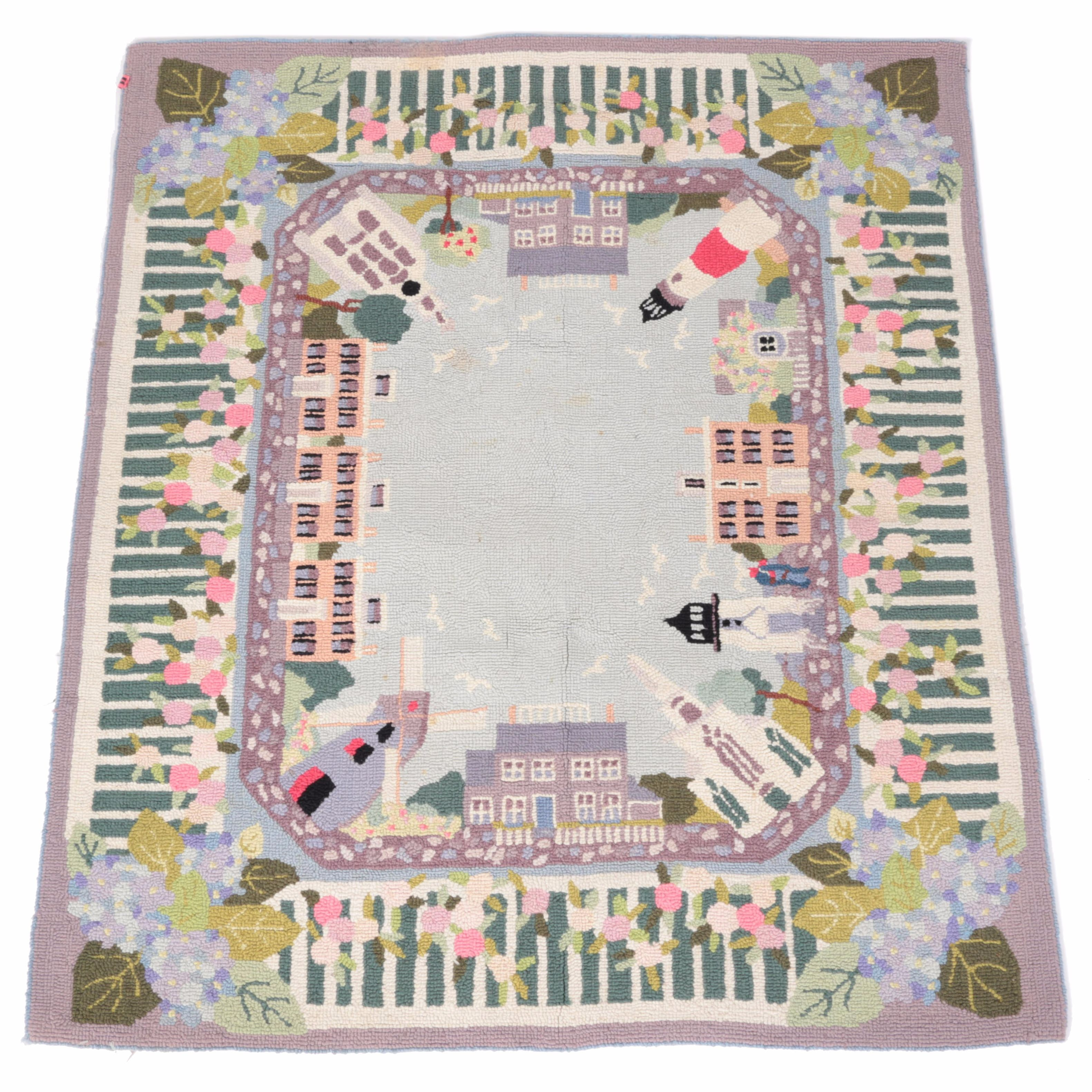 Hand Hooked Claire Murray Wool Area Rug Ebth