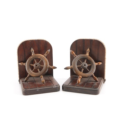 Nautical Theme Wooden Bookends