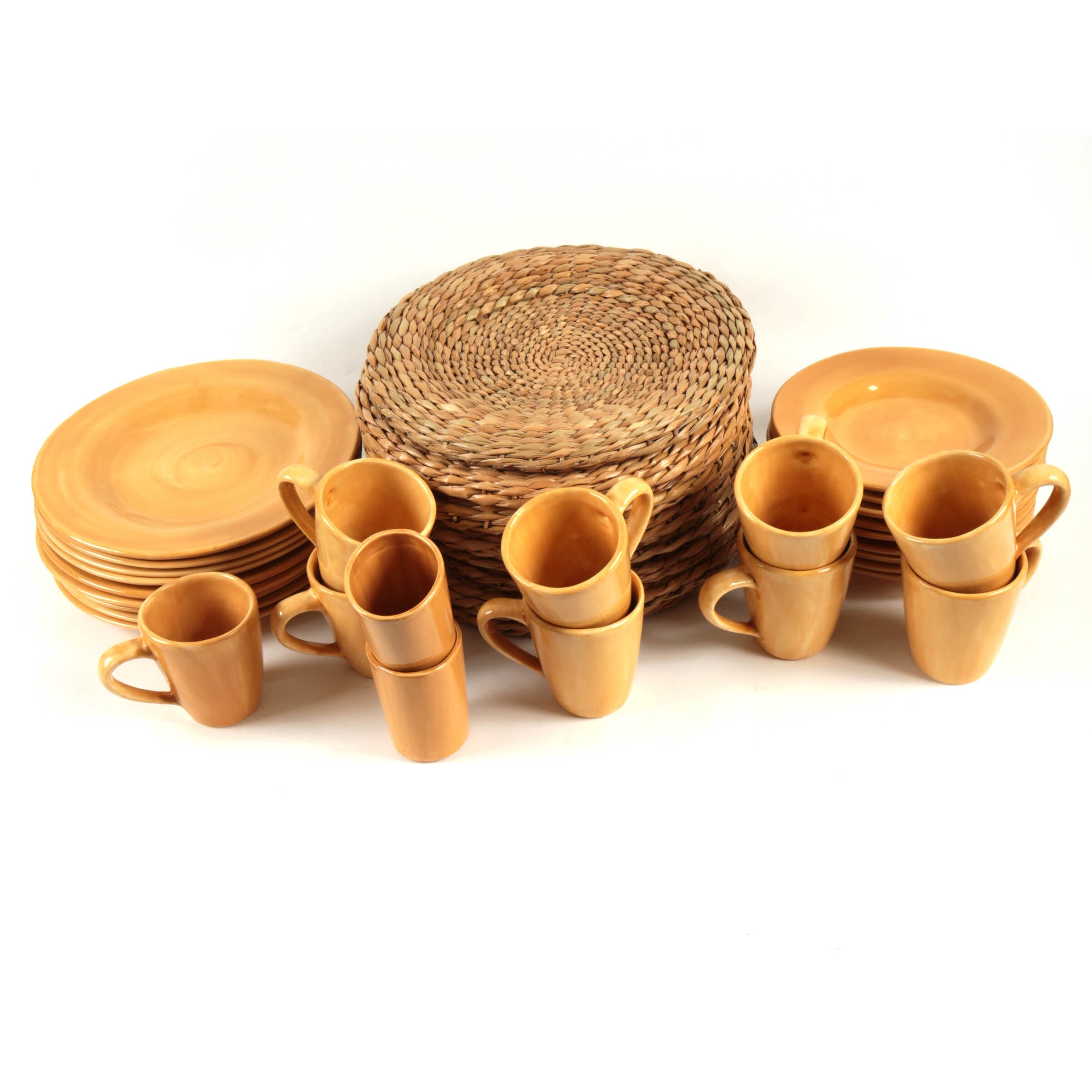 Pottery Barn  Sausalito  Mexican Dinnerware and Placemats ...  sc 1 st  EBTH.com & Pottery Barn