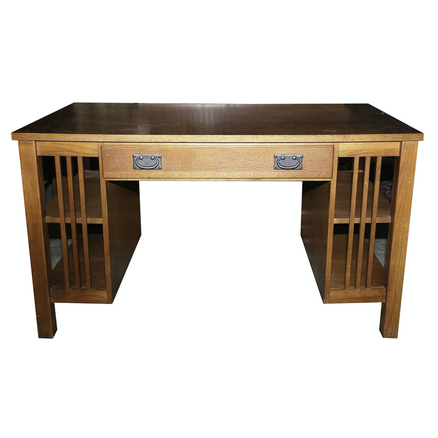 Mission Style Oak Desk By Bett