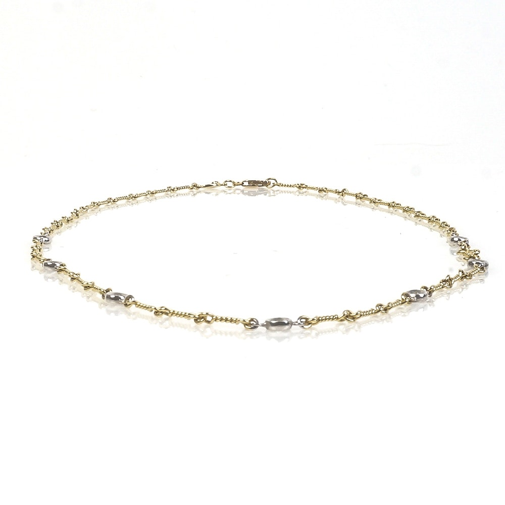 Roberto Coin 18K Two-Tone Gold and Diamond Station Necklace