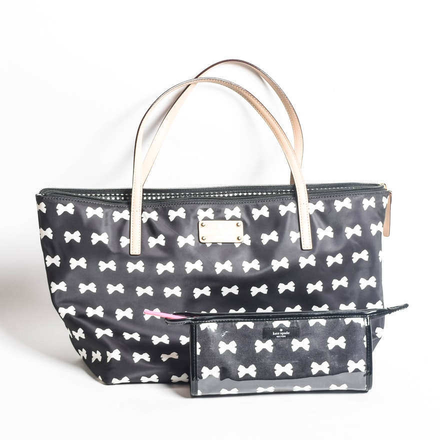 Kate Spade Tote Bag With Matching Toiletry