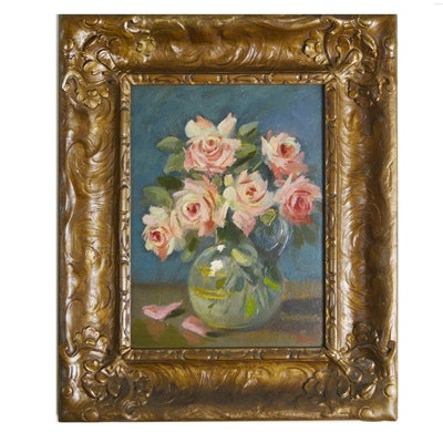 Martin Rettig Original Oil Painting of Floral Still Life