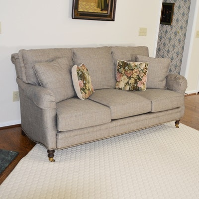 Wesley Hall Herringbone Tweed Sofa