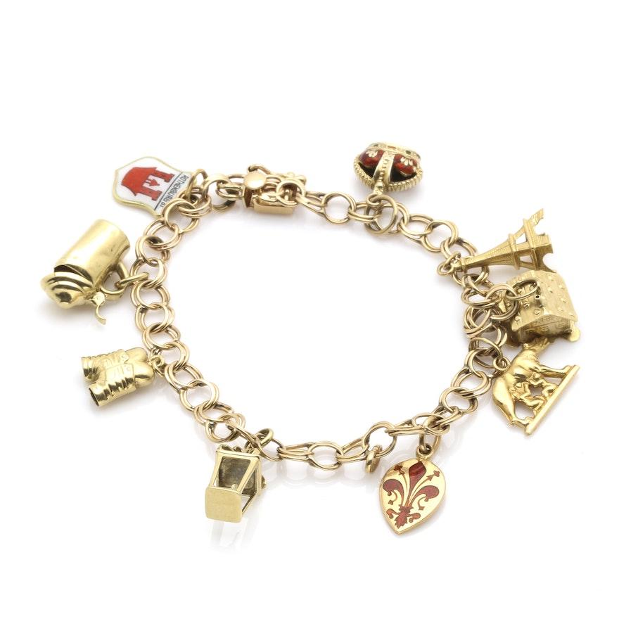 a30c246b1dda2 10K - 18K Yellow Gold Charm Bracelet