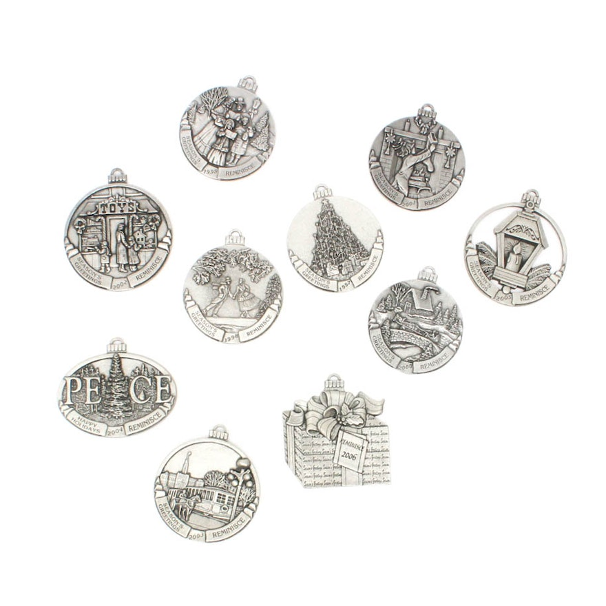 1997 2006 pewter seasons greetings reminisce ornaments ebth 1997 2006 pewter seasons greetings reminisce ornaments m4hsunfo