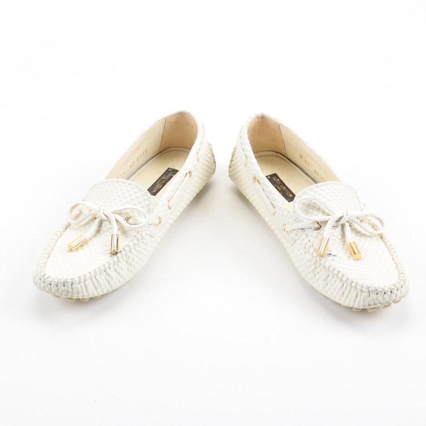 Louis Vuitton Mini Damier Driving Shoes   EBTH 59b882997