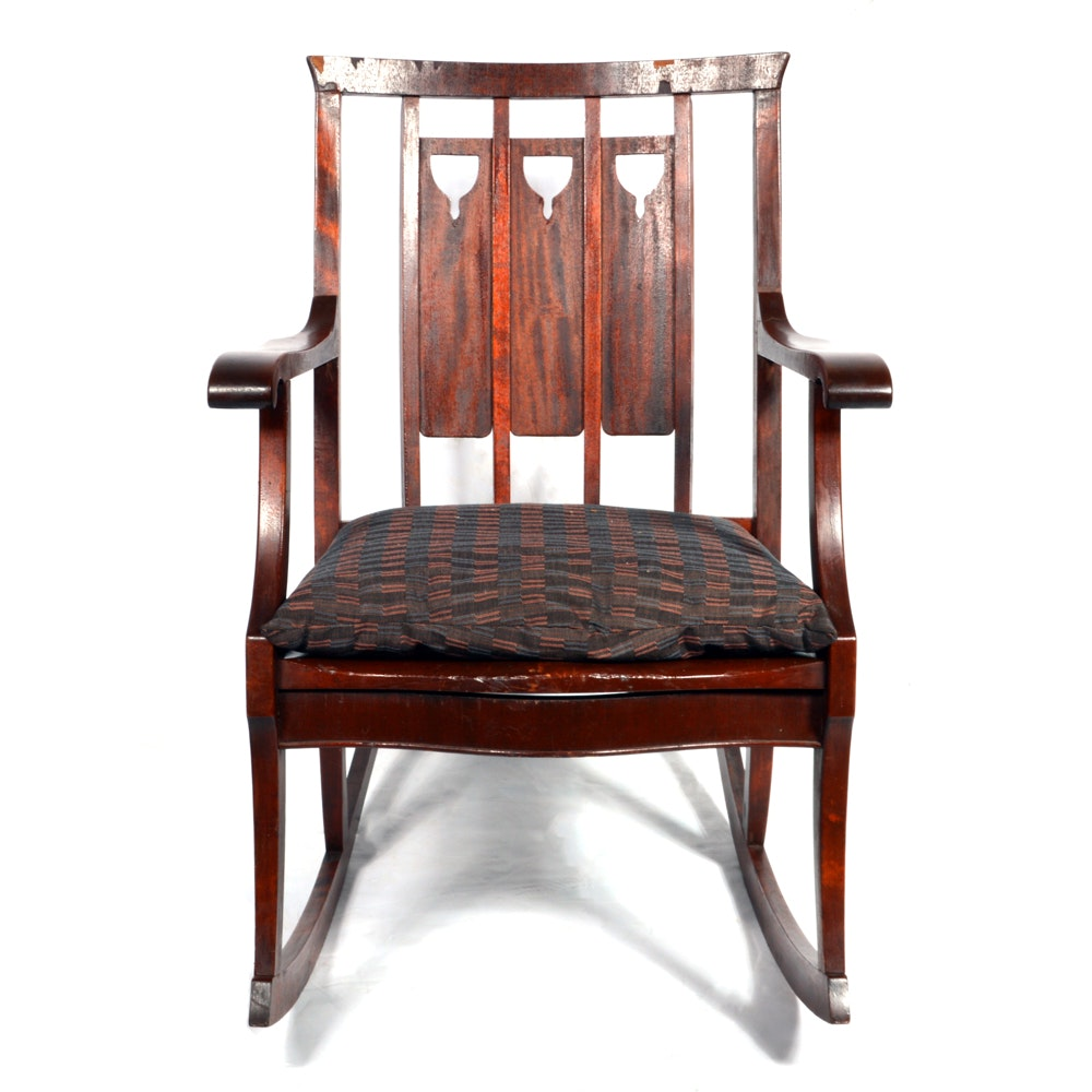 6820314 Antique Edwardian Mahogany Rocking Chair on rocking chair back rests