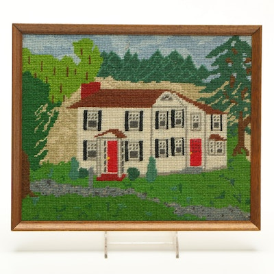 Needlepoint of a House