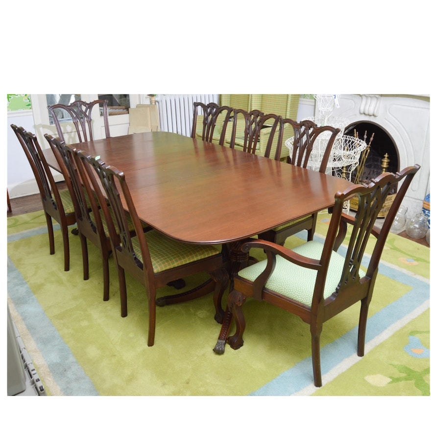 Surprising Duncan Phyfe Style Dining Table With Chippendale Style Chairs Home Interior And Landscaping Ologienasavecom