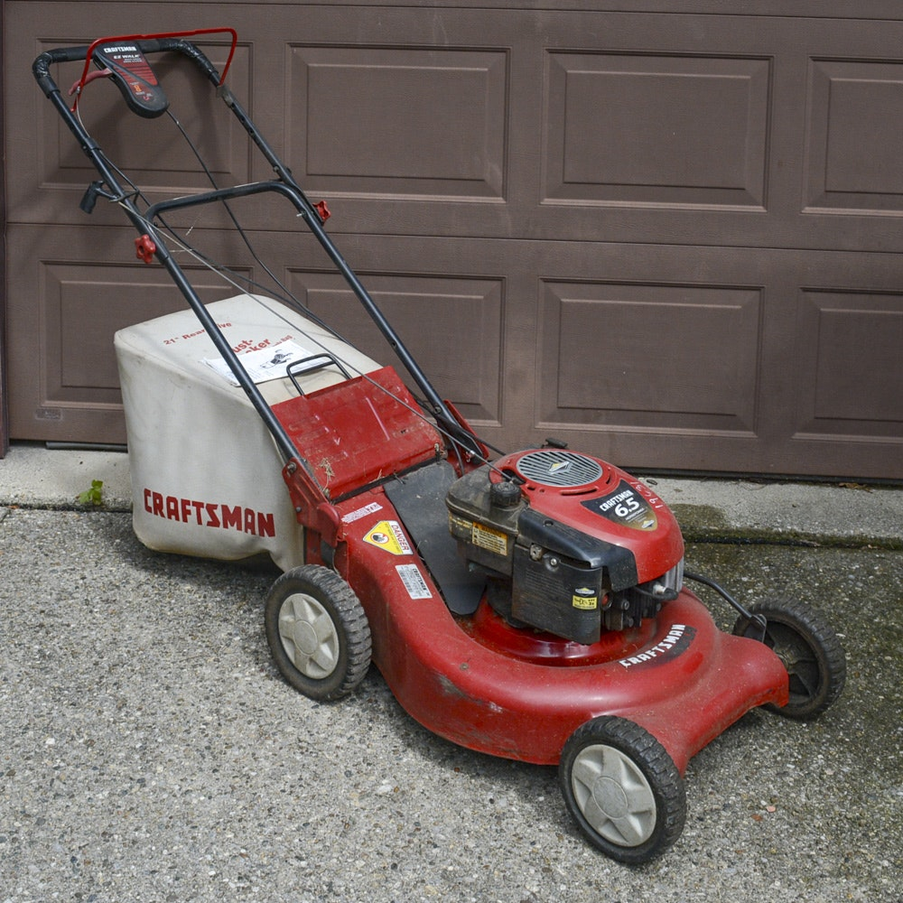Craftsman Lawnmower With Collection Bag