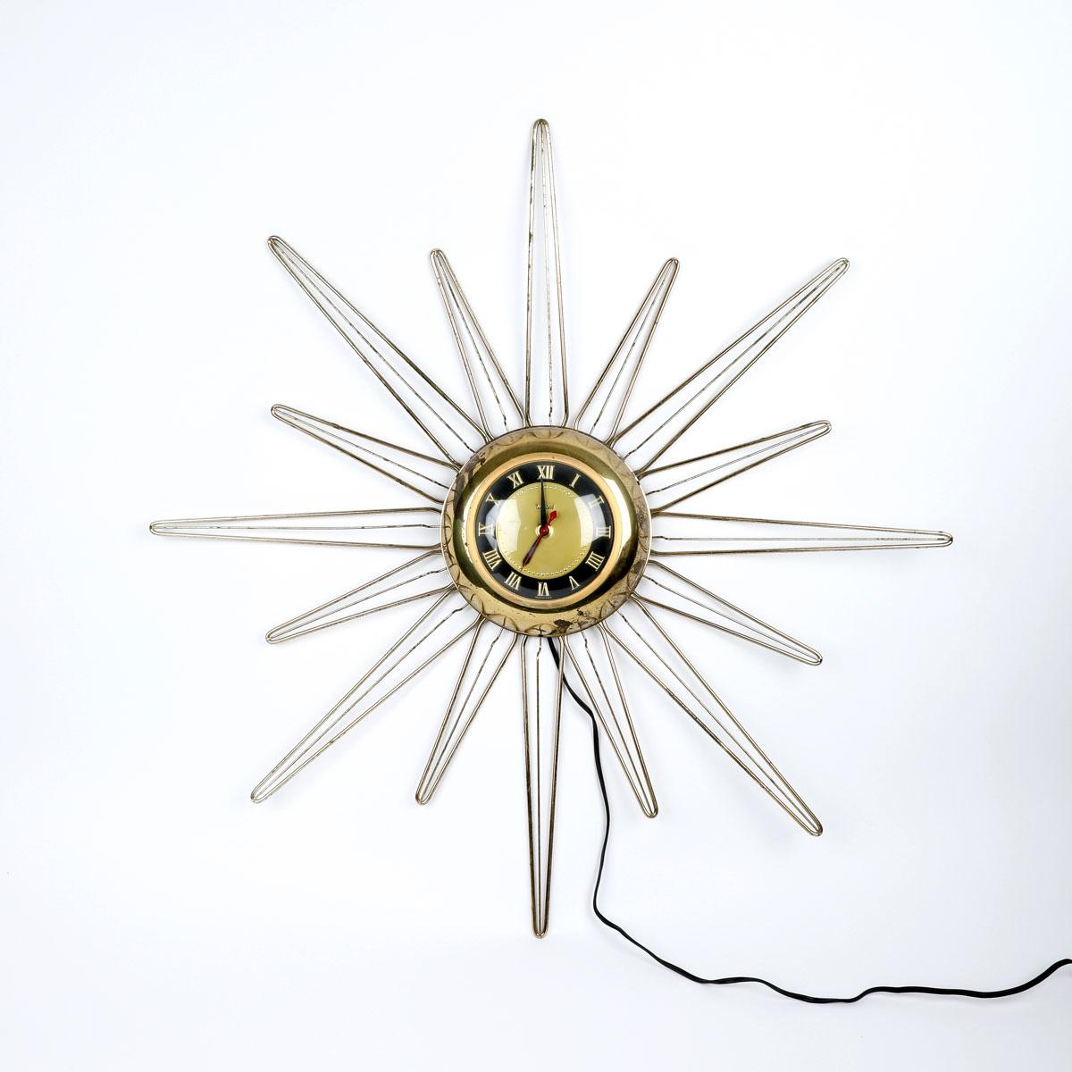 Retro Starburst Wall Clock by United EBTH