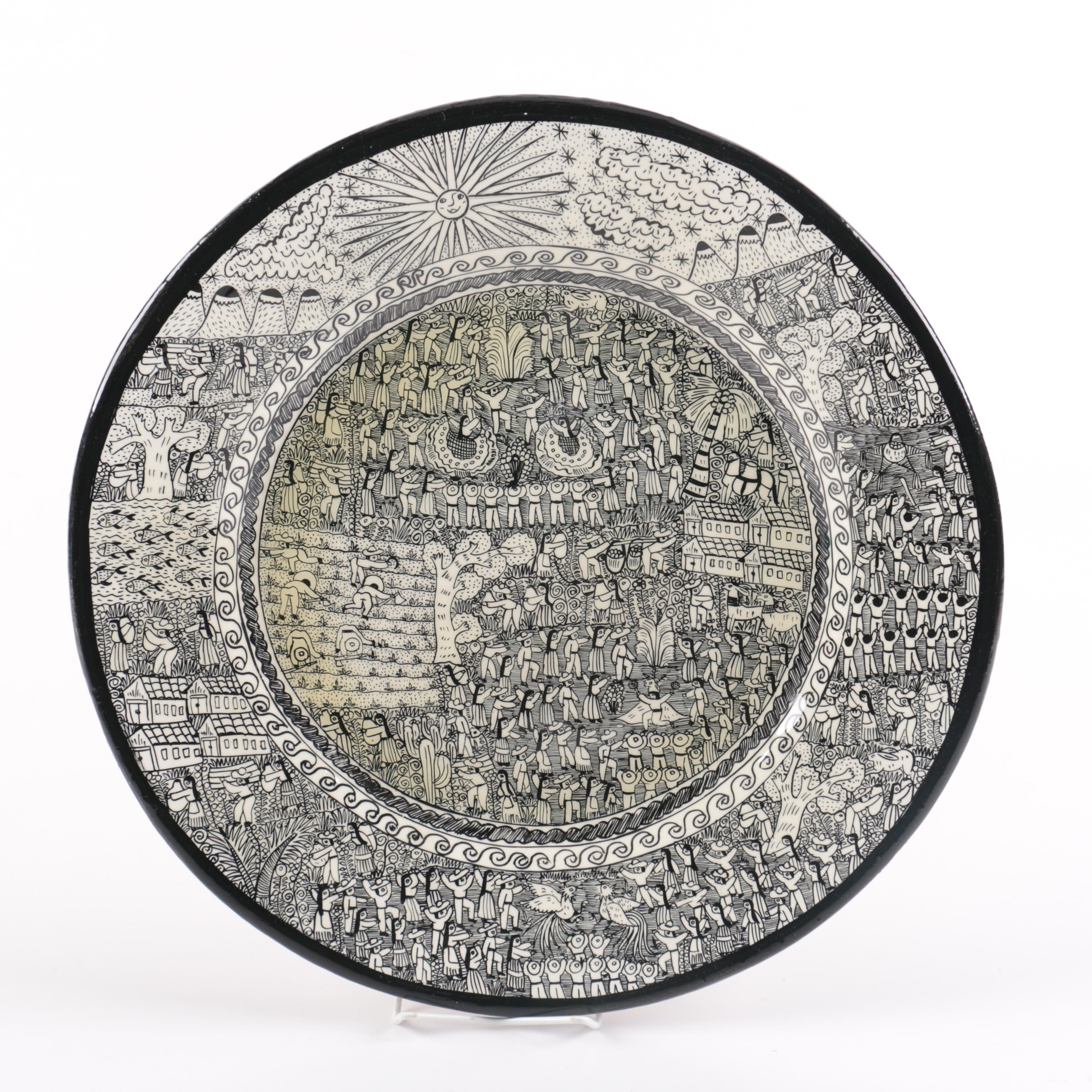 South American Inspired Decorative Charger Plate