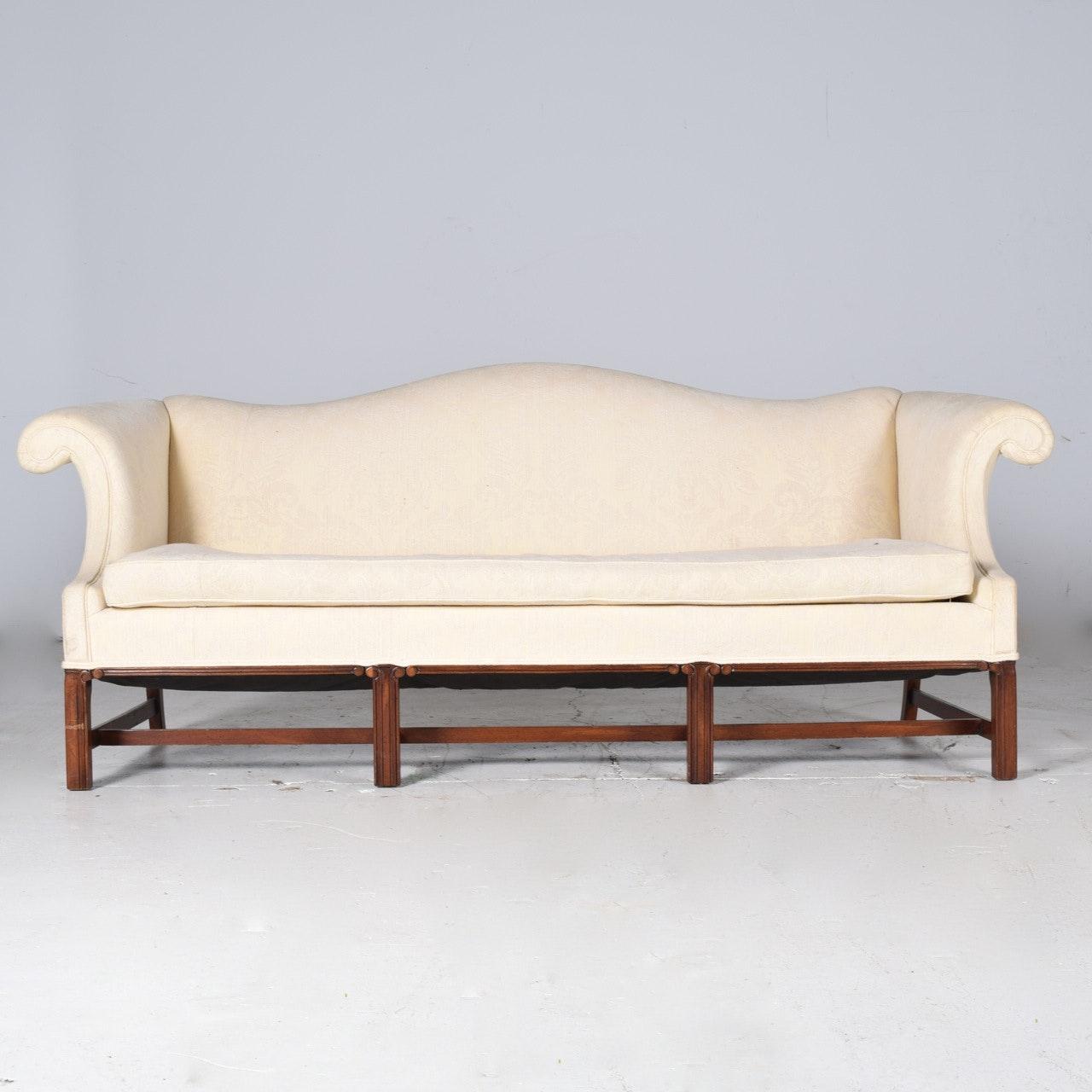 Tuxedo Style Upholstered Sofa