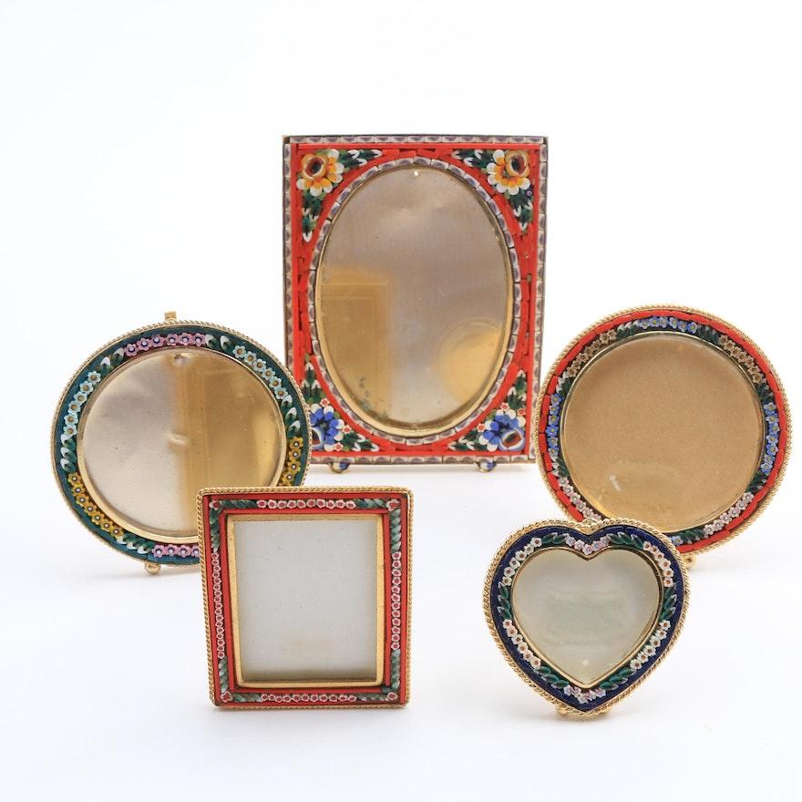 Five Italian Glass Mosaic Picture Frames : EBTH