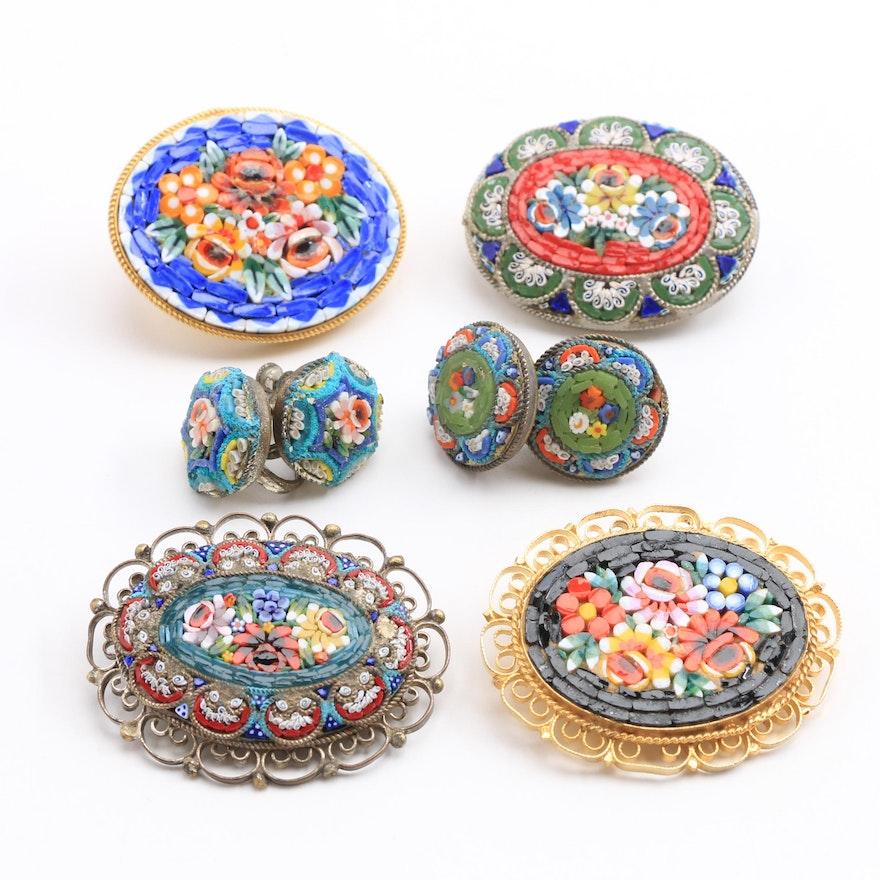 Italian Glass Mosaic Jewelry