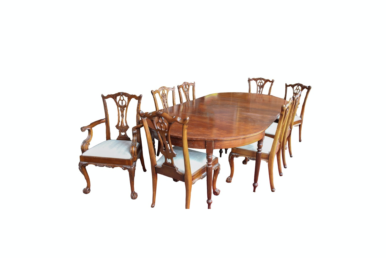 Federal Style Drop Leaf Mahogany Dining Table With  : 009 3jpgixlibrb 11 from www.ebth.com size 1300 x 867 jpeg 92kB