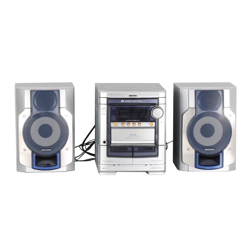 Aiwa Bookshelf CD Stereo Cassette Receiver