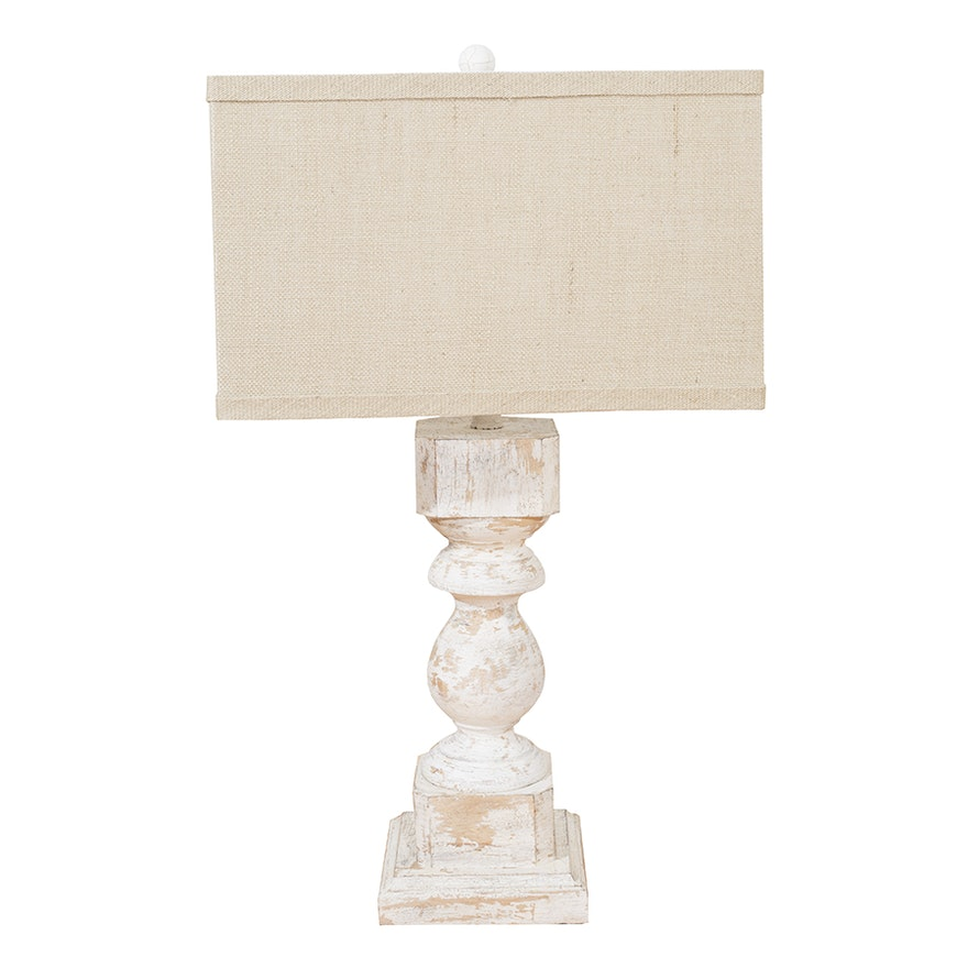 Accent Lamp With Canvas Lamp Shade