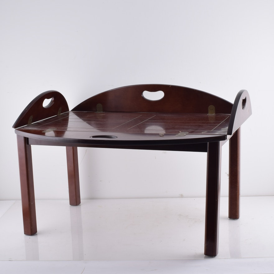 Tray Coffee Table Sale: Mahogany Butler's Tray Coffee Table