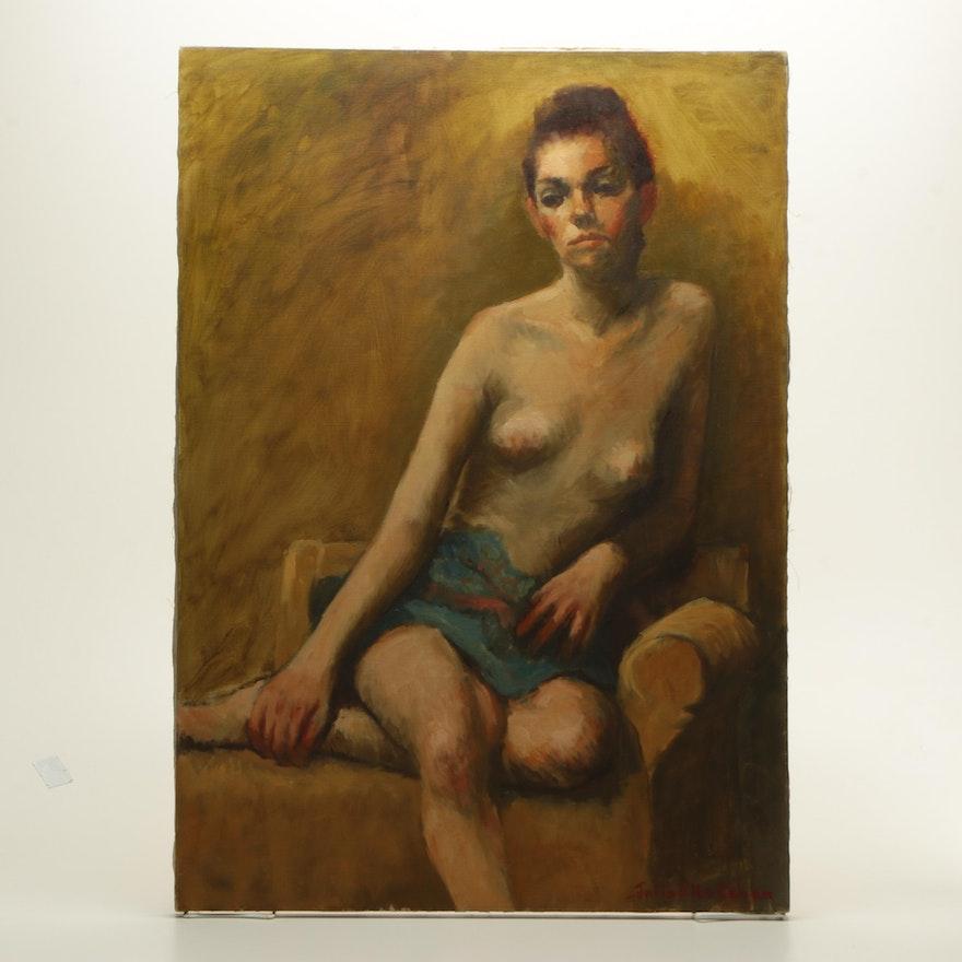 Julia Elko Cohen Oil Painting Of A Female Figure