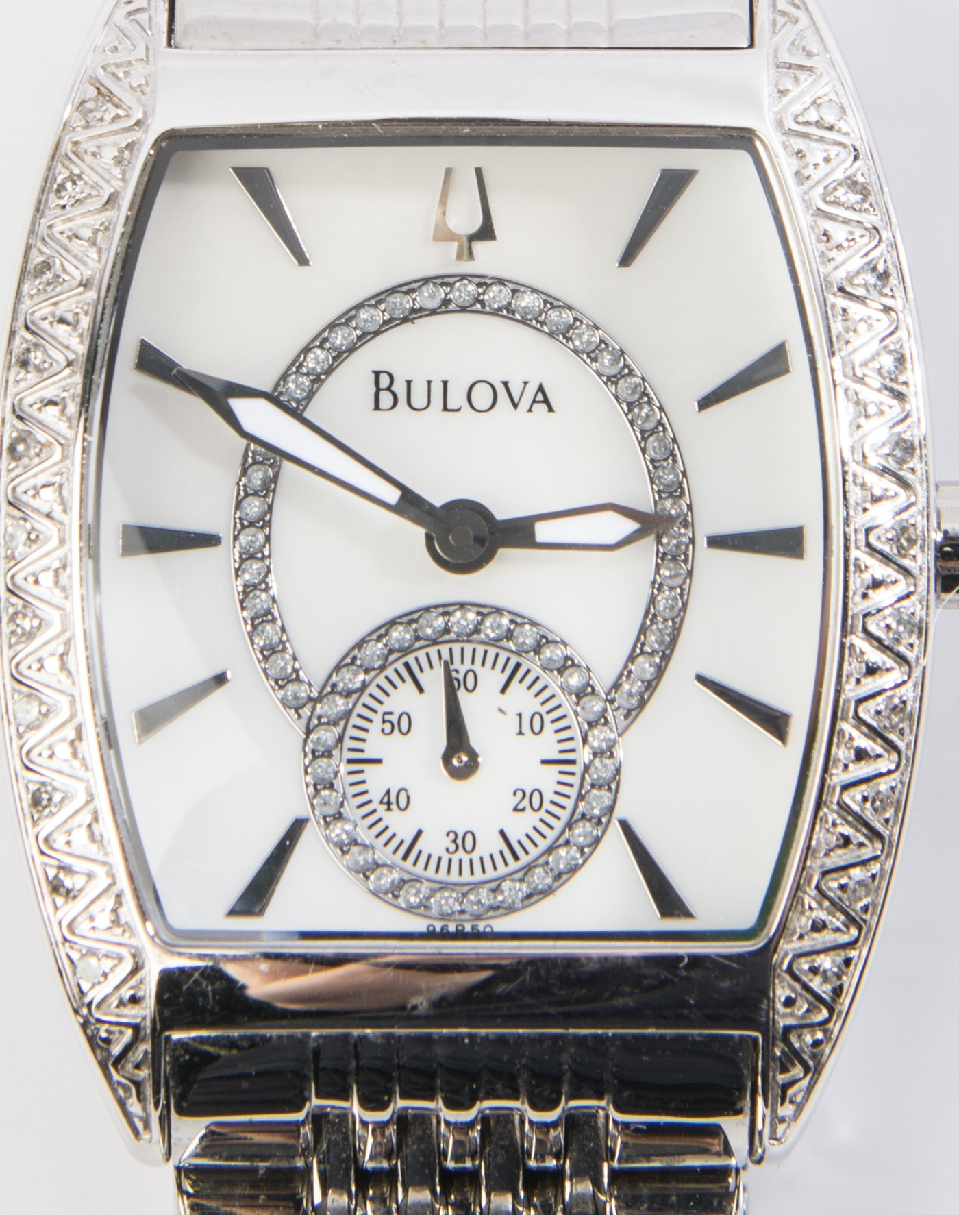 Bulova Stainless Steel And Diamond Wristwatch Ebth