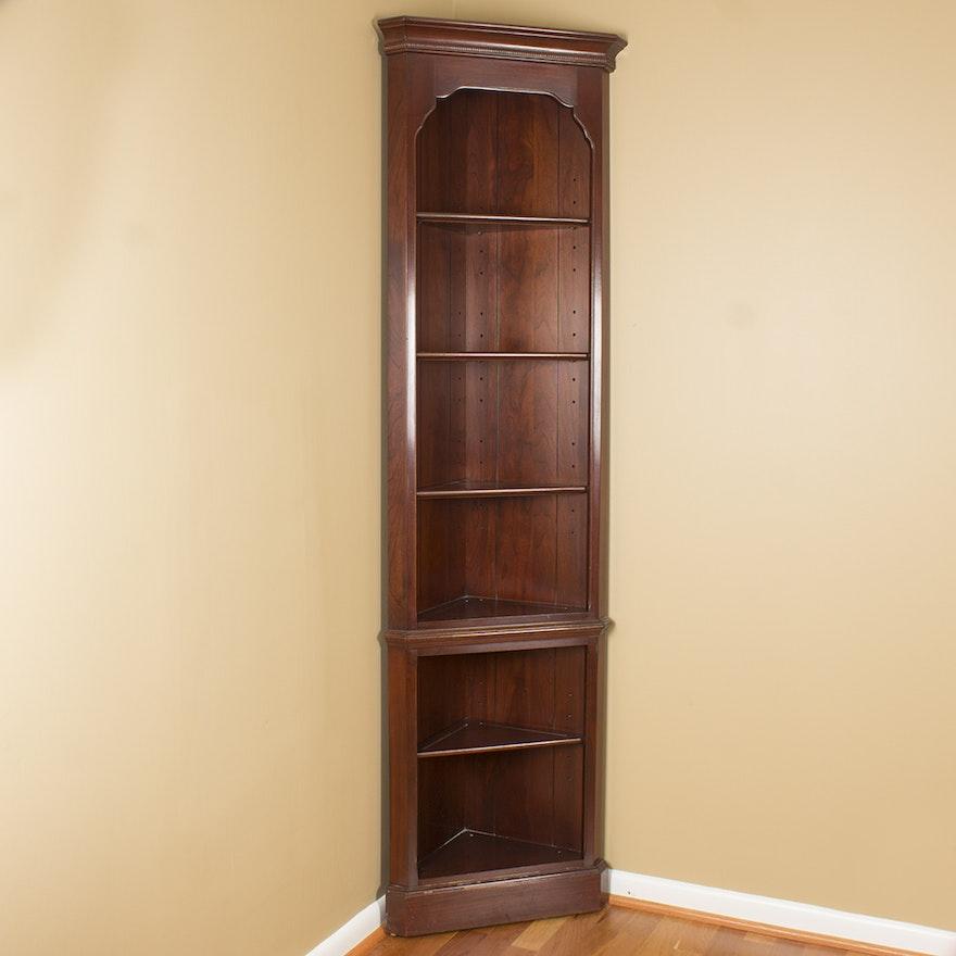 Dark Stained Wooden Corner Shelf EBTH Best Dark Wood Corner Shelves