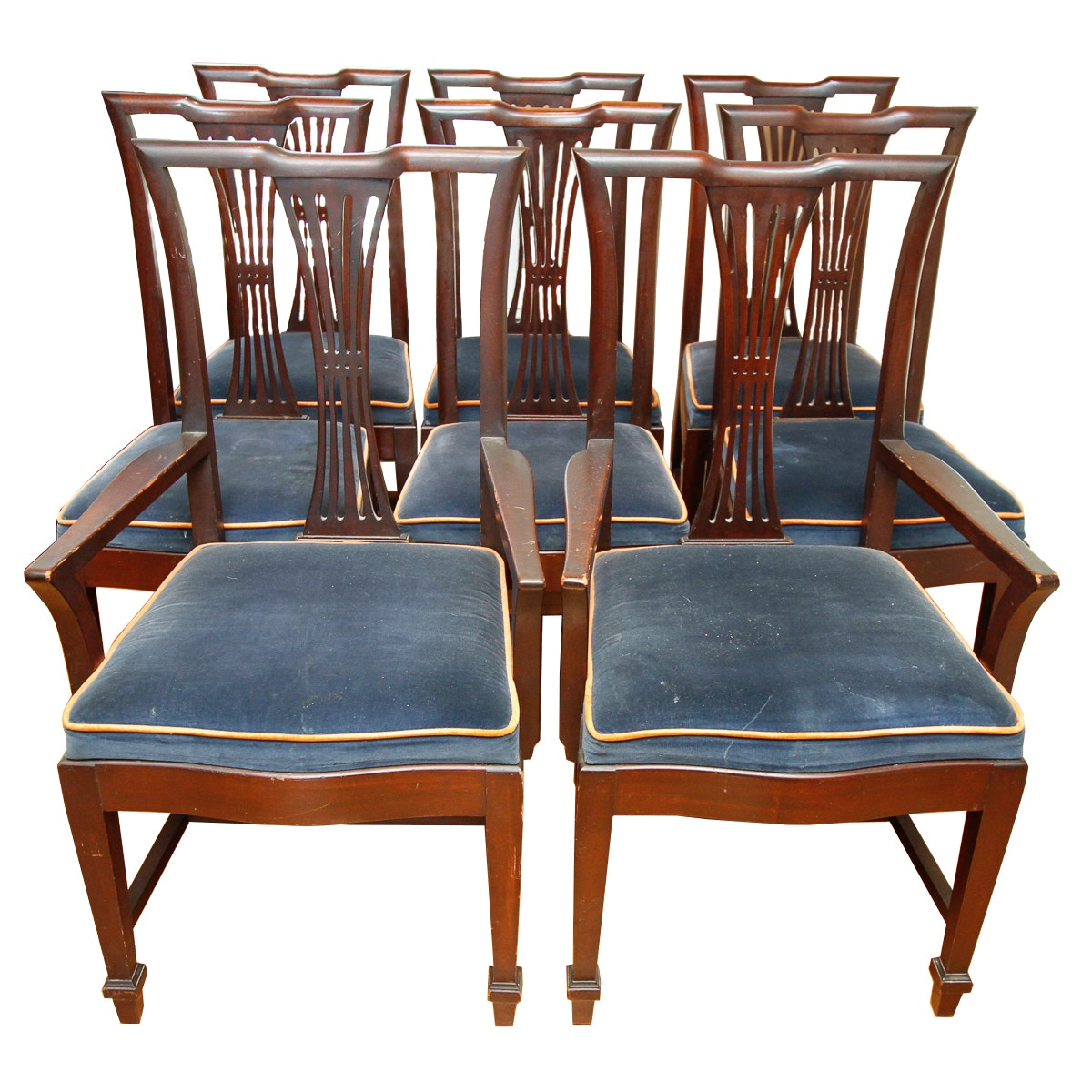 Vintage Style Dining Chairs: Vintage Federal Style Dining Chairs : EBTH