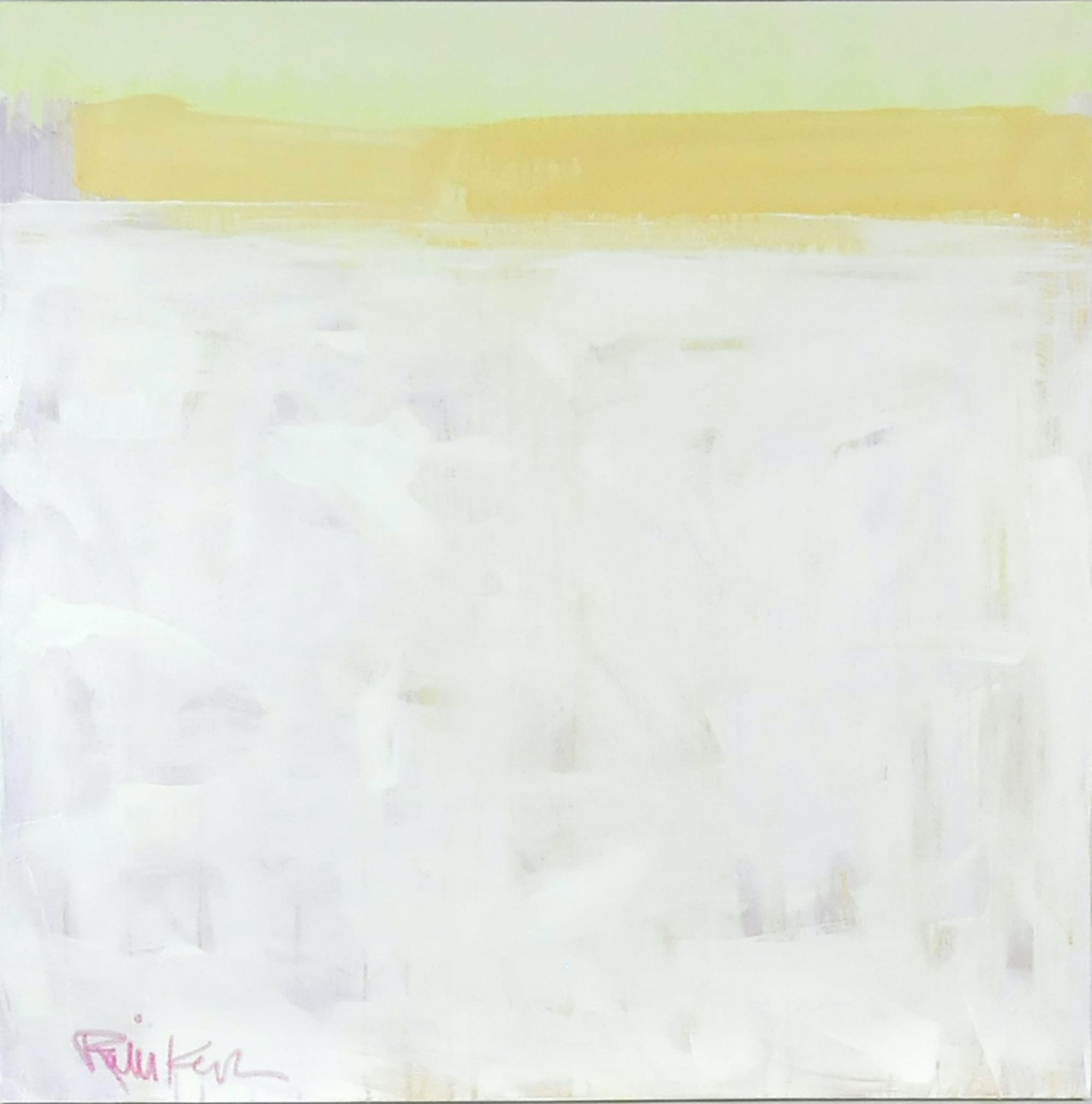 "Robbie Kemper Original Acrylic on Canvas ""Lite Yellow Band"""