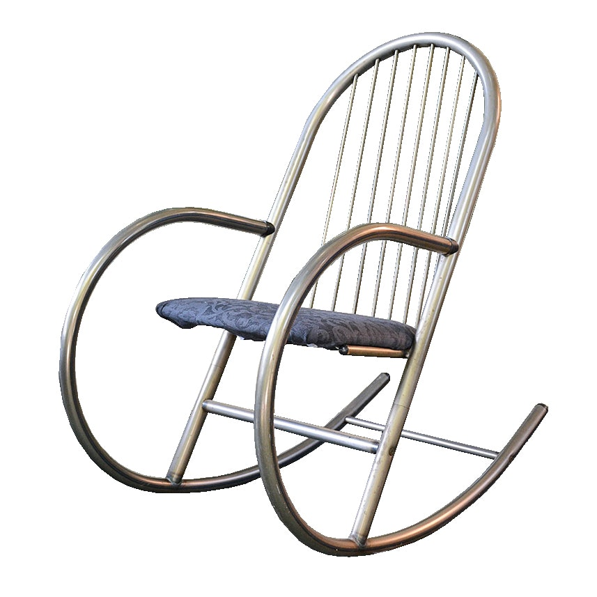 High Quality Modernist Metal Rocking Chair By Amisco Industries ...