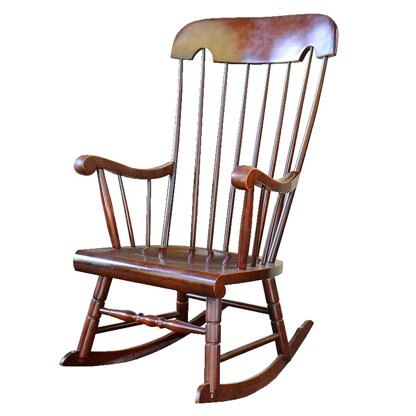 Mahogany Rocking Chair by Tell City Chair Company