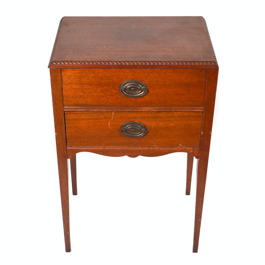 Vintage Federal Style Sewing Cabinet By Rockford Eagle