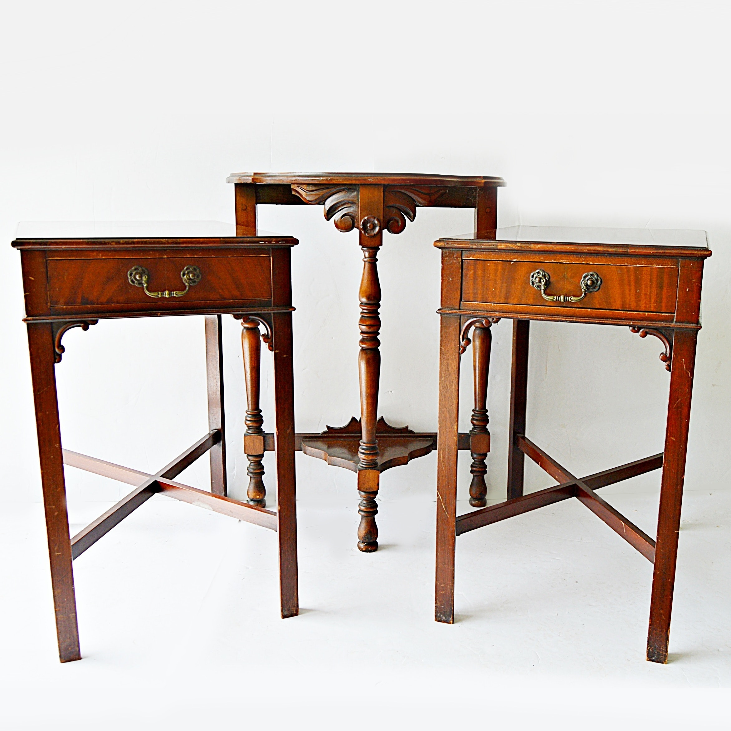 Vintage Side Tables, Including Georgian Style Pair by Imperial Furniture