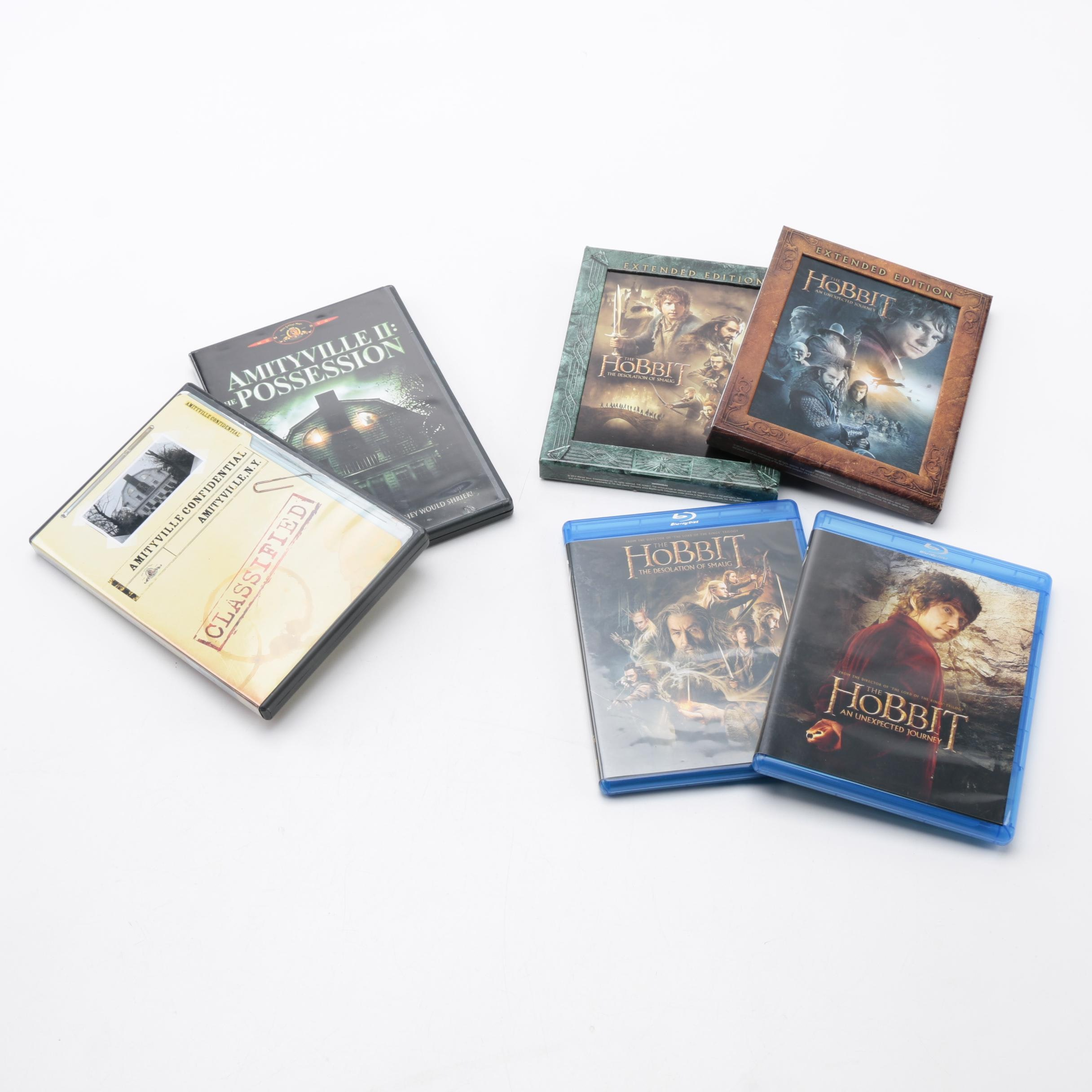 """""""Hobbit"""" and """"Amityville"""" DVDs"""