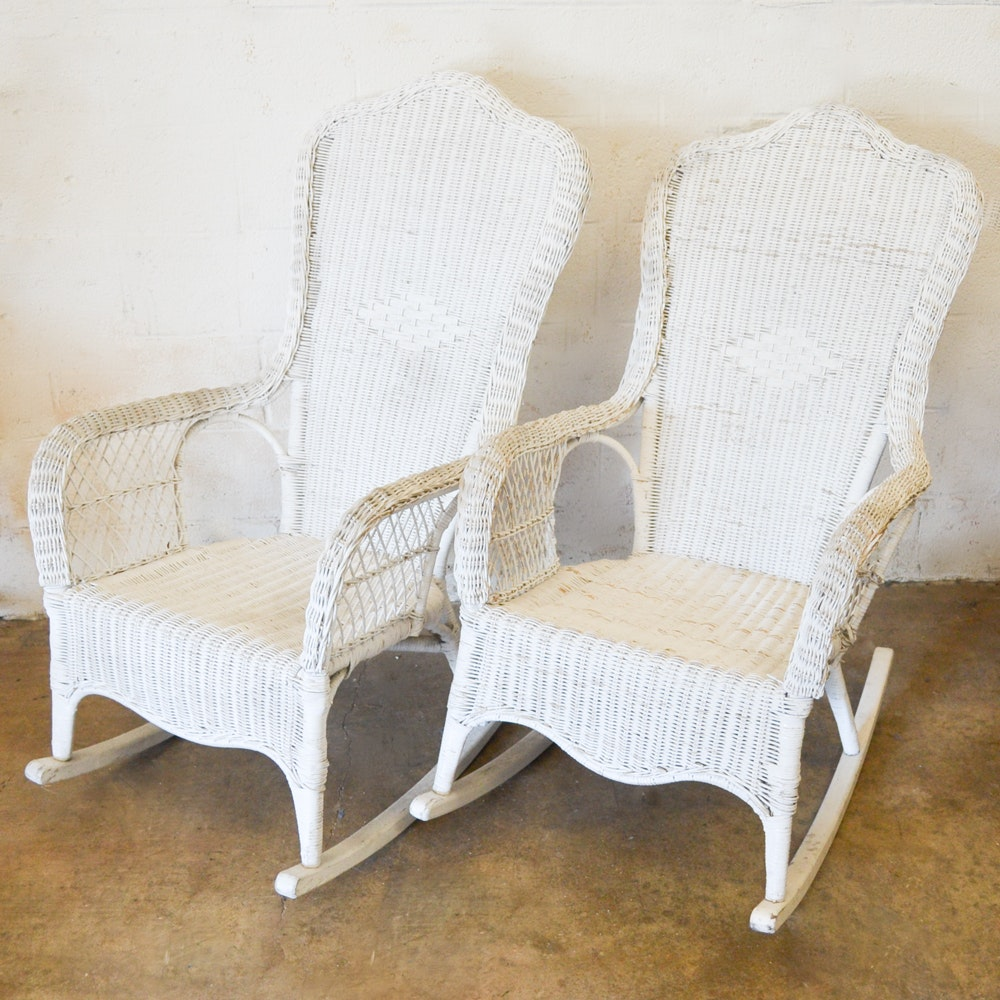 Pair of Wicker Rocking Chairs