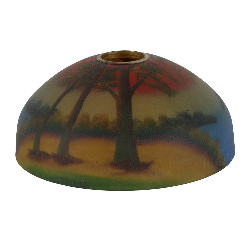 Reverse Hand Painted Glass Lamp Shade