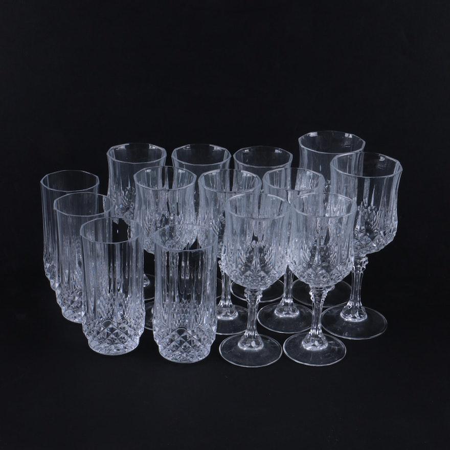Cristal d arques durand longchamp barware and stemware - Verres cristal d arques longchamp ...