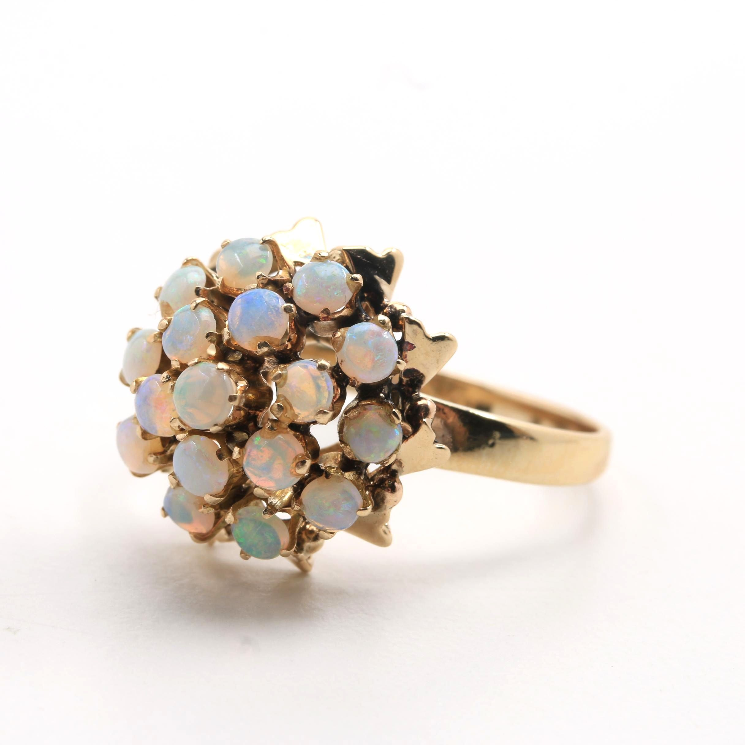 14K and 10K Yellow Gold Opal Ring
