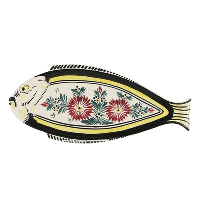 Henriot Quimper Faience Fish Console Bowl