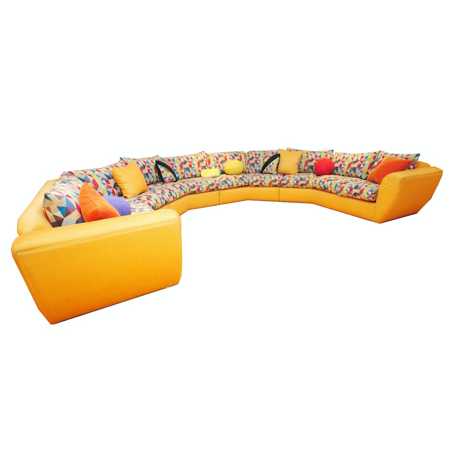Astonishing Large 80S Modern Style Sectional Sofa Andrewgaddart Wooden Chair Designs For Living Room Andrewgaddartcom
